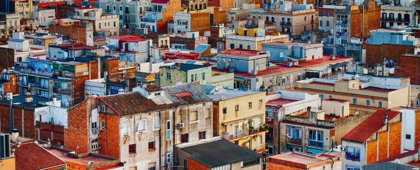 imatge amb blocs de pisos. panoràmica