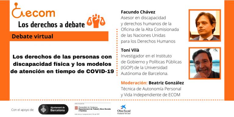 Cartel informativo del debate virtual sobre la vida independiente.