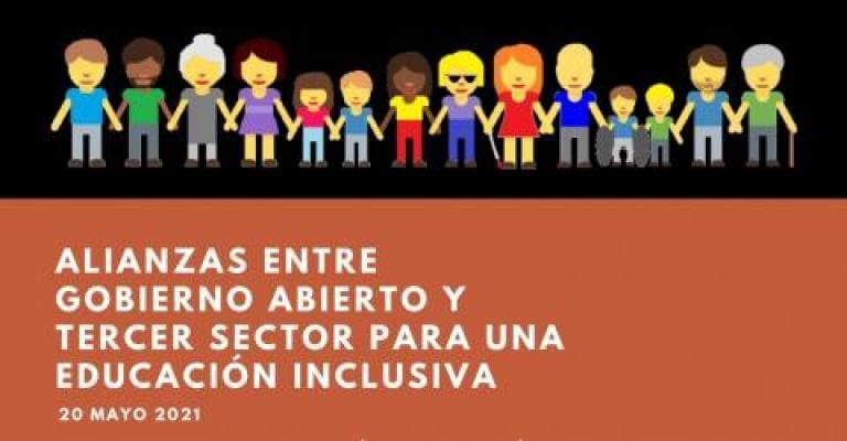 Cartell de la jornada: Aliances entre el Govern Obert i el Tercer Sector per a una Educació Inclusiva