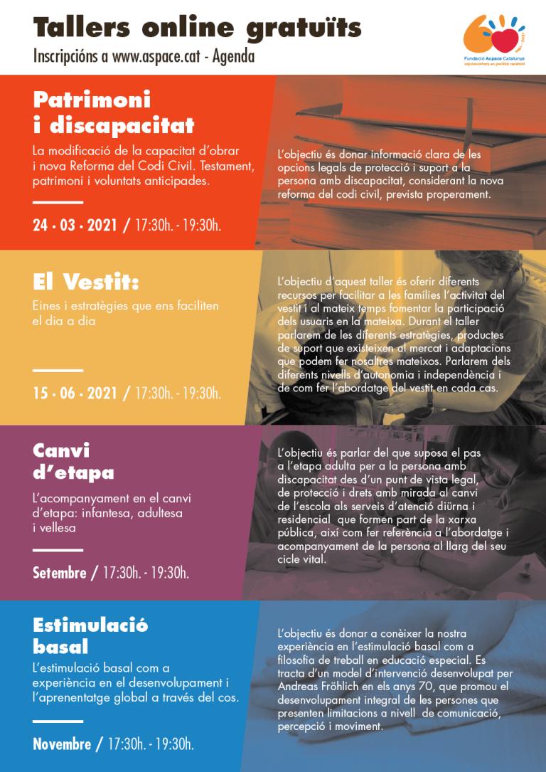 cartell i programa del taller